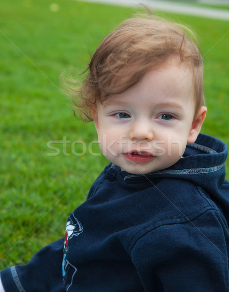 Baby boy in the park Stock photo © igabriela