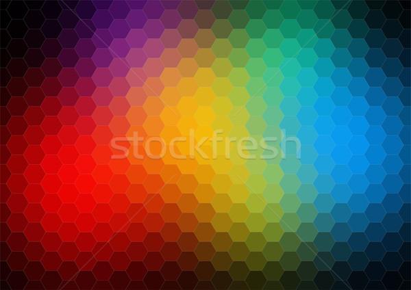 カラフル パターン 三角形 幾何学的な レトロなパターン ストックフォト © igor_shmel
