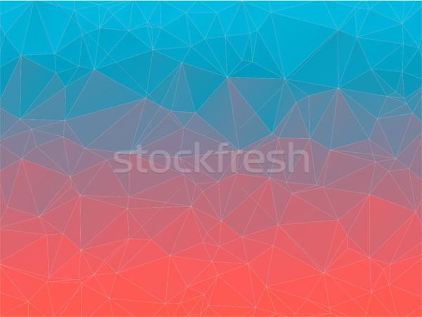 勾配 三角形 幾何学的な カラフル テクスチャ 背景 ストックフォト © igor_shmel