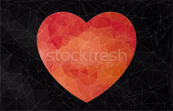 Abstract banner vector web liefde achtergrond Stockfoto © igor_shmel
