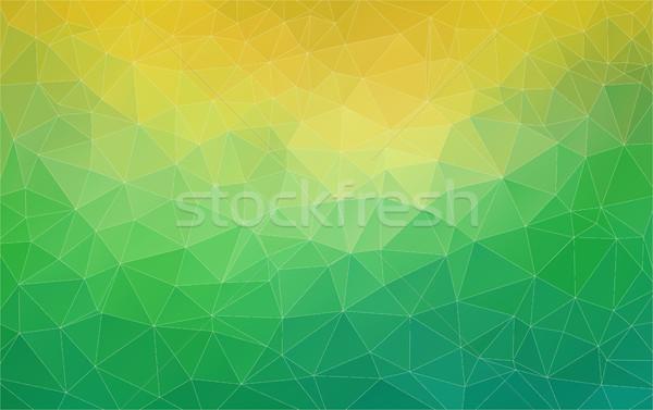 üçgen yeşil sarı eğim afiş renk Stok fotoğraf © igor_shmel