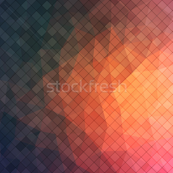 Abstract 2D triangle background with square shapes Stock photo © igor_shmel
