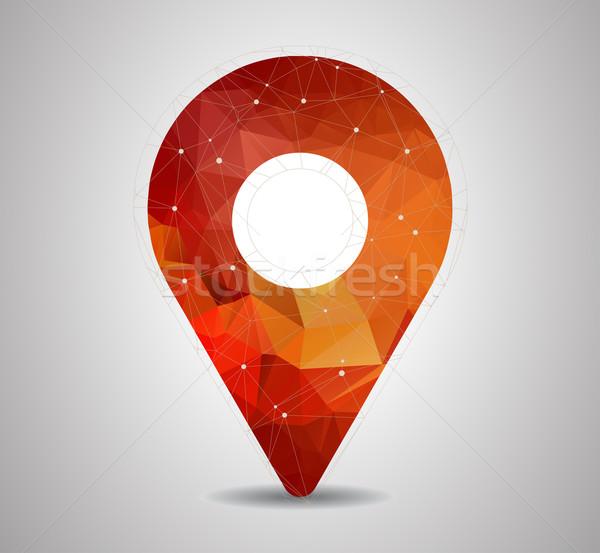 ポリゴン ピン 地図 アイコン ベクトル 旅行 ストックフォト © igor_shmel