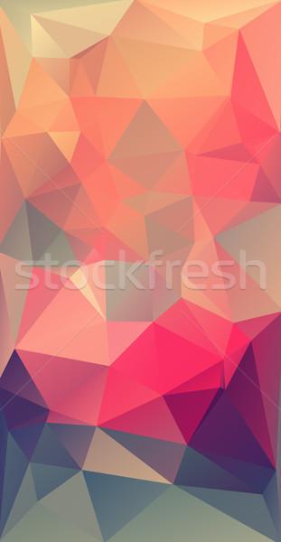Stok fotoğraf: Dikey · modern · üçgen · geometrik · renkli
