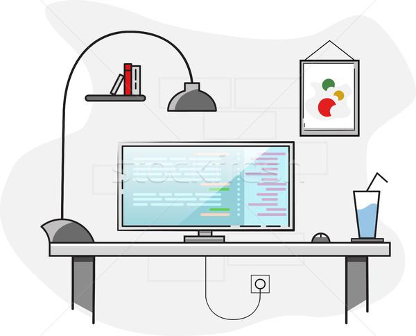 дизайна Creative служба Desktop workspace вектора Сток-фото © igor_shmel