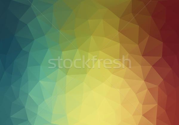 Soyut üçgen geometrik renkli doku arka plan Stok fotoğraf © igor_shmel