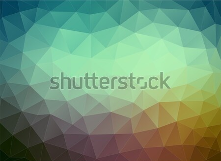 Flat multicolor geometric triangle wallpaper Stock photo © igor_shmel