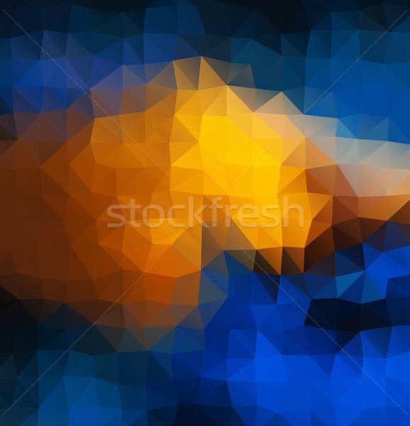 Soyut mozaik geometrik renkler model motifler Stok fotoğraf © igor_shmel