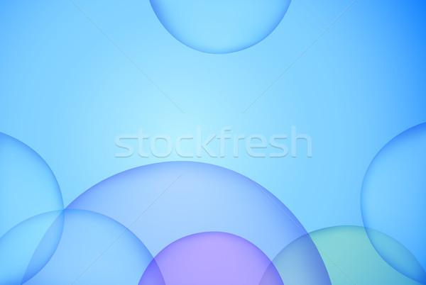 Bolle cerchio unico blu luminoso vettore Foto d'archivio © igor_shmel