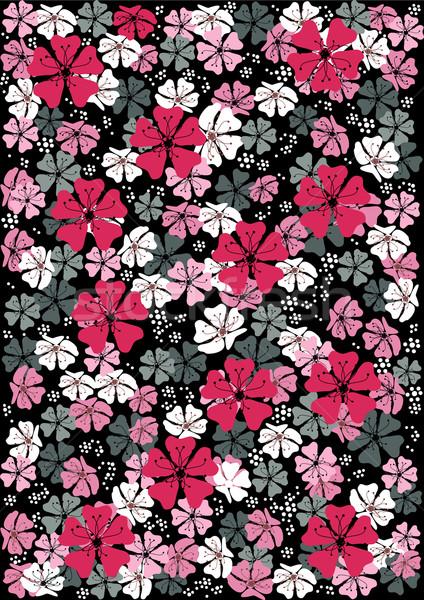 Abstrato floral padrão vetor flor flores Foto stock © igor_shmel