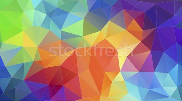 üçgen geometrik duvar kağıdı model moda ışık Stok fotoğraf © igor_shmel
