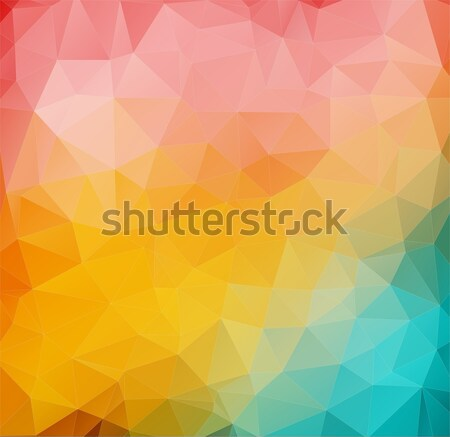 Abstract 2D mulicolor composition with angular shapes Stock photo © igor_shmel