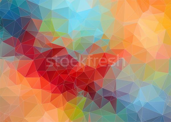 Geometrik vektör soyut dizayn duvar kağıdı Stok fotoğraf © igor_shmel