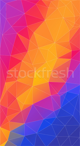 Flat triangle Background for your smartphone. Stock photo © igor_shmel