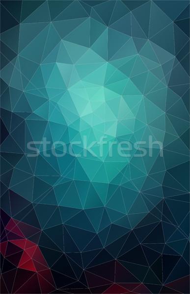 Stok fotoğraf: Dikey · pastel · renk · geometrik · üçgen · duvar · kağıdı