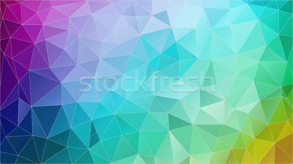 抽象的な 三角形 幾何学的な カラフル 水平な Webデザイン ストックフォト © igor_shmel