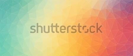 抽象的な 明るい 色 三角形 光 技術 ストックフォト © igor_shmel