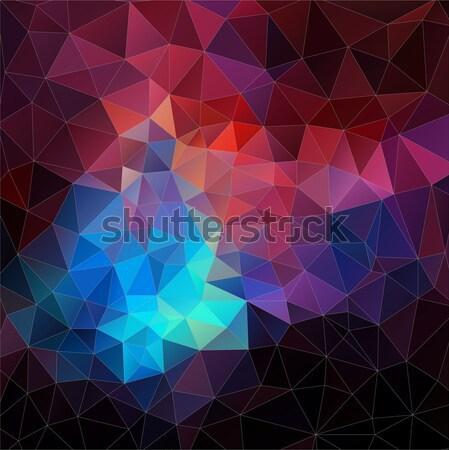 Modern Triangle 2D geometric colorful background Stock photo © igor_shmel