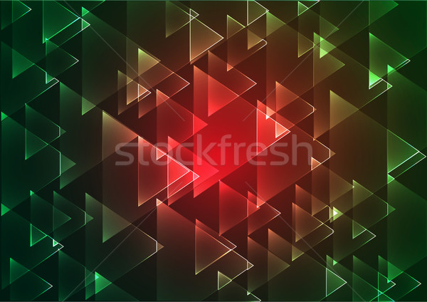 Flat red and green geometric rectangle background Stock photo © igor_shmel