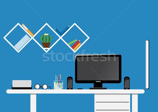 オフィス デスクトップ 作業領域 ベクトル アップ デザイン ストックフォト © igor_shmel