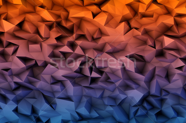 abstract background consisting of 3D triangles Stock photo © igor_shmel