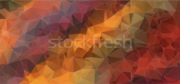 colorful horizontal mosaic composition with triangle shapes Stock photo © igor_shmel