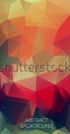 Triangle geometric colorful background Stock photo © igor_shmel