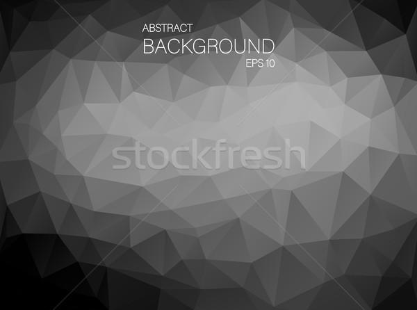 Preto e branco triângulo formas abstrato arte vetor Foto stock © igor_shmel