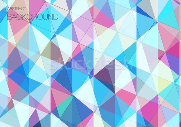 クール 抽象的な 三角形 幾何学的な パターン 壁紙 ストックフォト © igor_shmel
