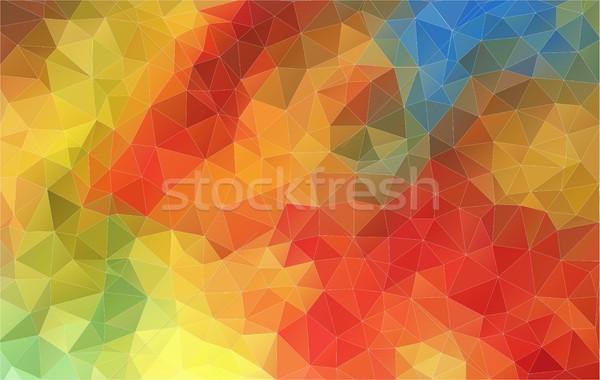 Horizontal Abstract 2D geometric colorful background Stock photo © igor_shmel