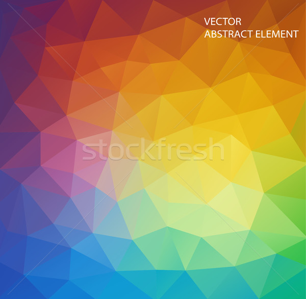 Background of geometric shapes. multicolor triangle . Colorful mosaic pattern. Stock photo © igor_shmel
