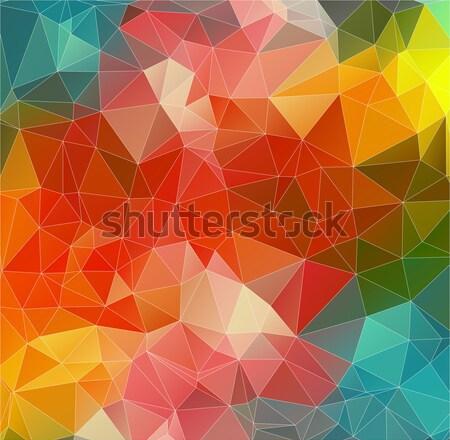 Light red polygonal background with triangle Stock photo © igor_shmel