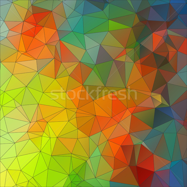 Mosaic triangle ornamental geometric background Stock photo © igor_shmel
