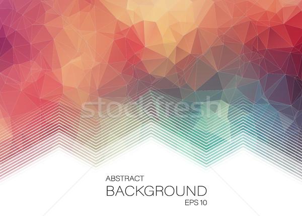 水平な 抽象的な 幾何学的な カラフル Webデザイン 水 ストックフォト © igor_shmel
