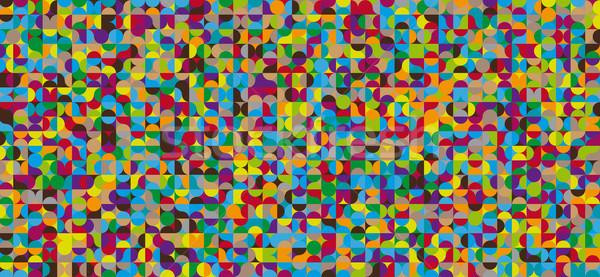 Abstrato círculos padrão retro cor fundo Foto stock © igor_shmel