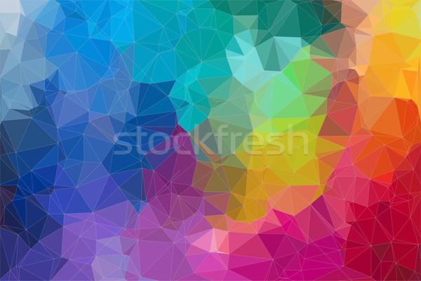 Abstract 2D mosaic triangle background Stock photo © igor_shmel