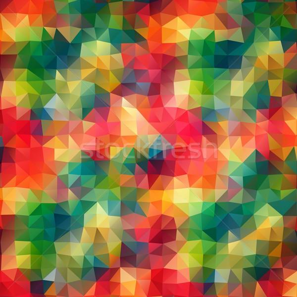 抽象的な 三角形 モザイク ベクトル 色 テクスチャ ストックフォト © igor_shmel