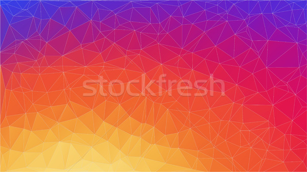 Abstract 2D gradient geometric colorful background Stock photo © igor_shmel