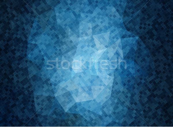 Horizontal azul bandeira praça formas vetor Foto stock © igor_shmel