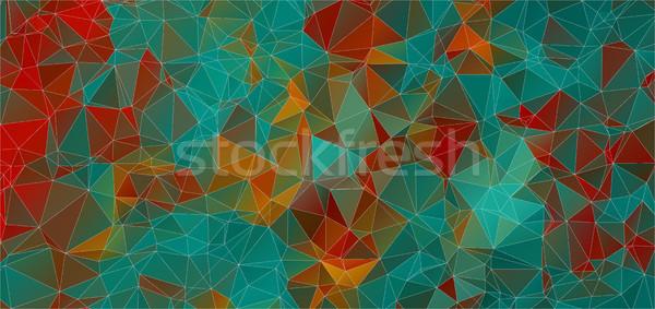 треугольник facebook охватывать ретро цвета текстуры Сток-фото © igor_shmel