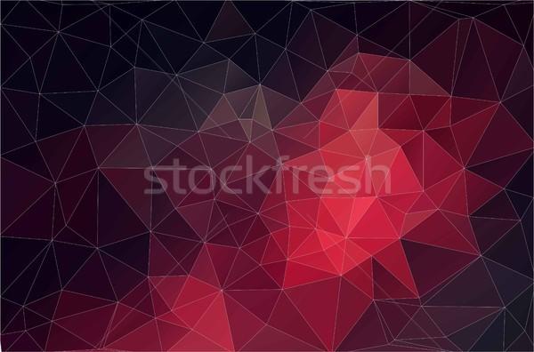 Kırmızı geometrik Retro üçgen renkli Stok fotoğraf © igor_shmel