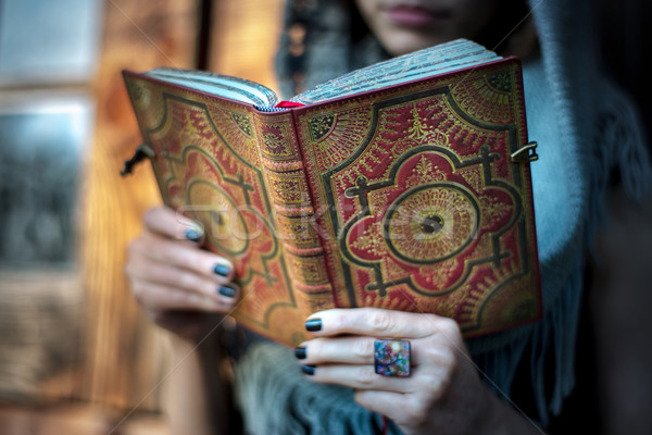 Casual woman with a book on her hands Stock photo © igor_shmel