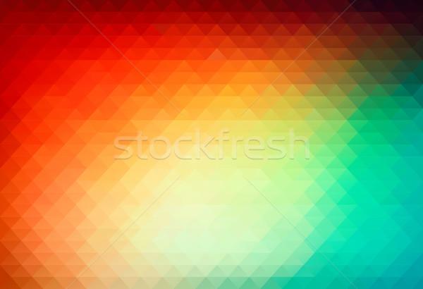 Vetor triângulo abstrato projeto tecnologia cor Foto stock © igor_shmel