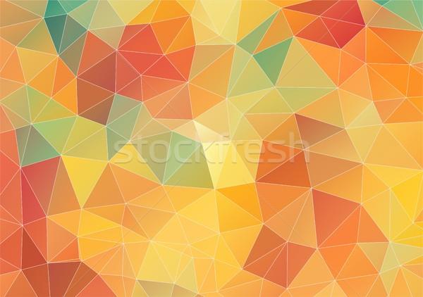Geometrik üçgen duvar kağıdı model su doku Stok fotoğraf © igor_shmel