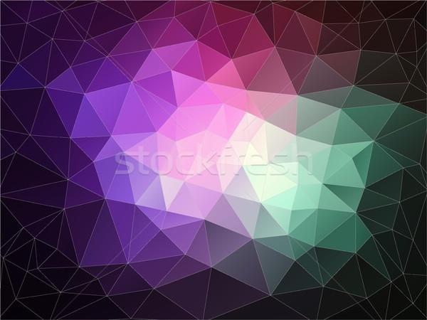 Parlak renk üçgen web su Stok fotoğraf © igor_shmel