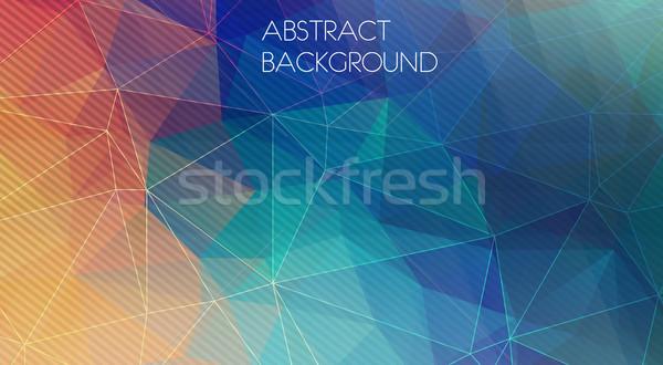 幾何学的な パターン 壁紙 光 背景 レトロな ストックフォト © igor_shmel