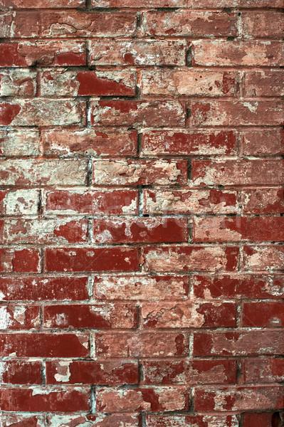 Old worn brick wall texture background. Vintage effect. Stock photo © igor_shmel