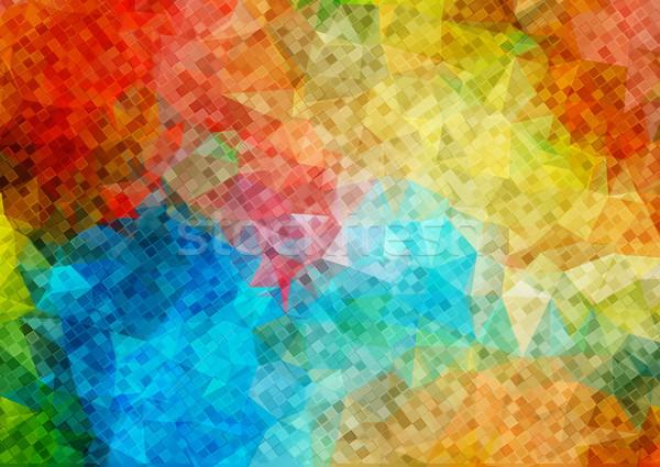 Mosaico pequeno praça formas retro cor Foto stock © igor_shmel