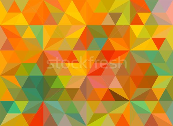レトロな 色 幾何学的な 三角形 壁紙 ベクトル ストックフォト © igor_shmel