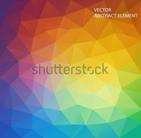 abstract composition with triangle shapes Stock photo © igor_shmel